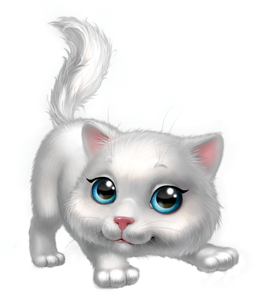 picture free library Kittens clipart whimsical cat. Cute white kitten png.