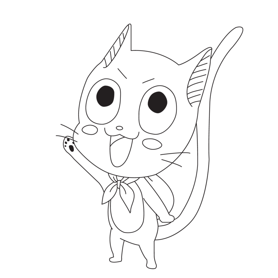 png black and white library Simple Cat Drawing at GetDrawings