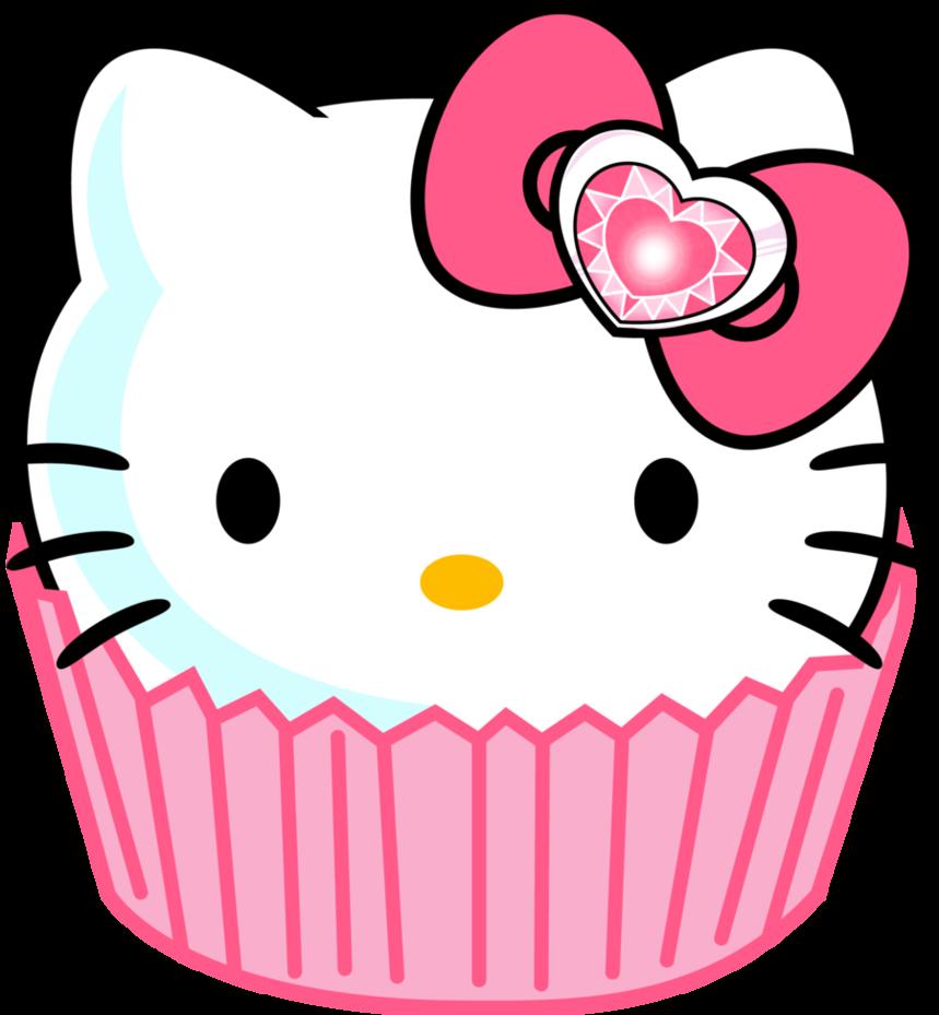 image library stock Hello clip art cupcake. Kitty clipart border.