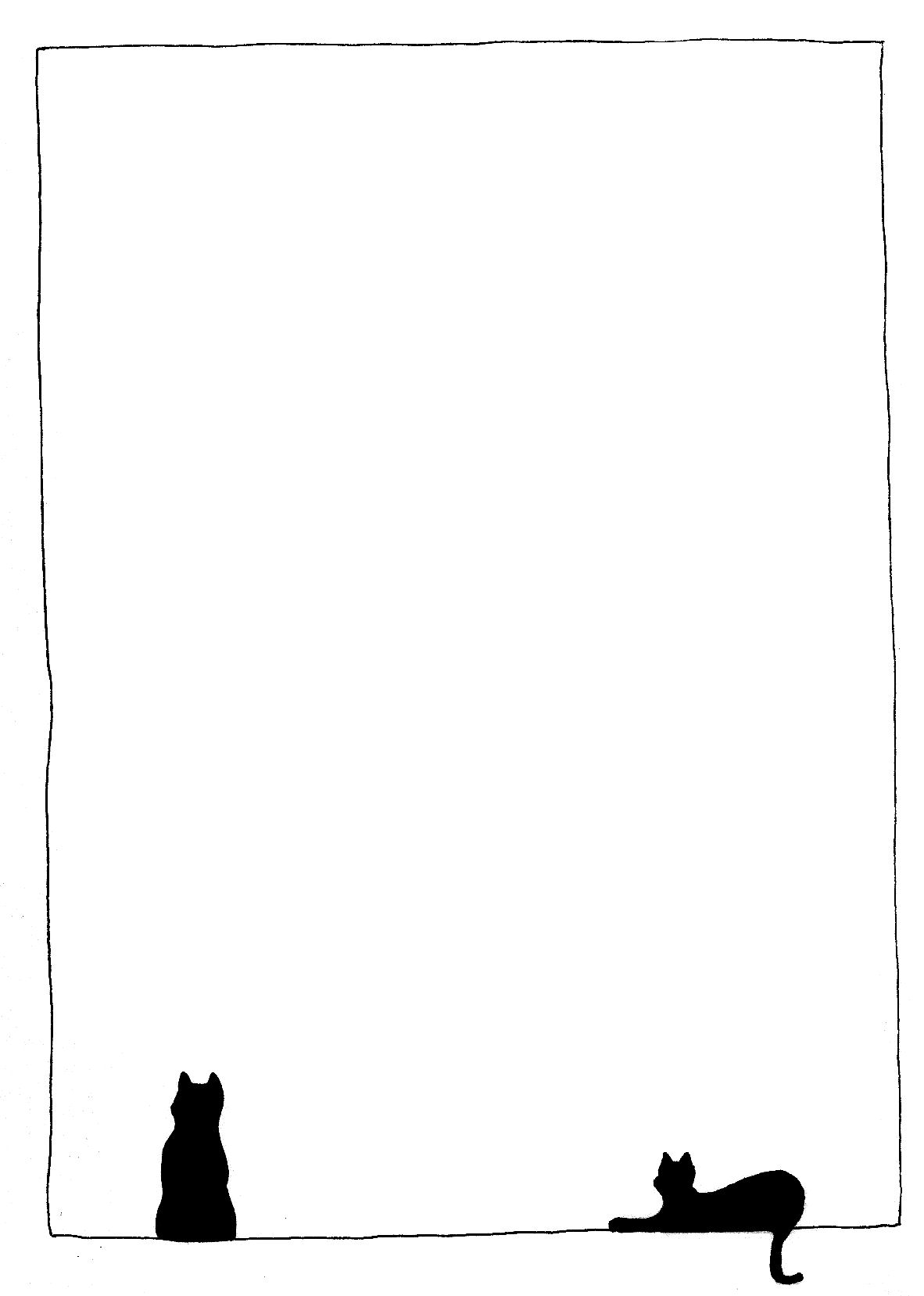 picture freeuse library Kitty clipart border. Free cat cliparts download.