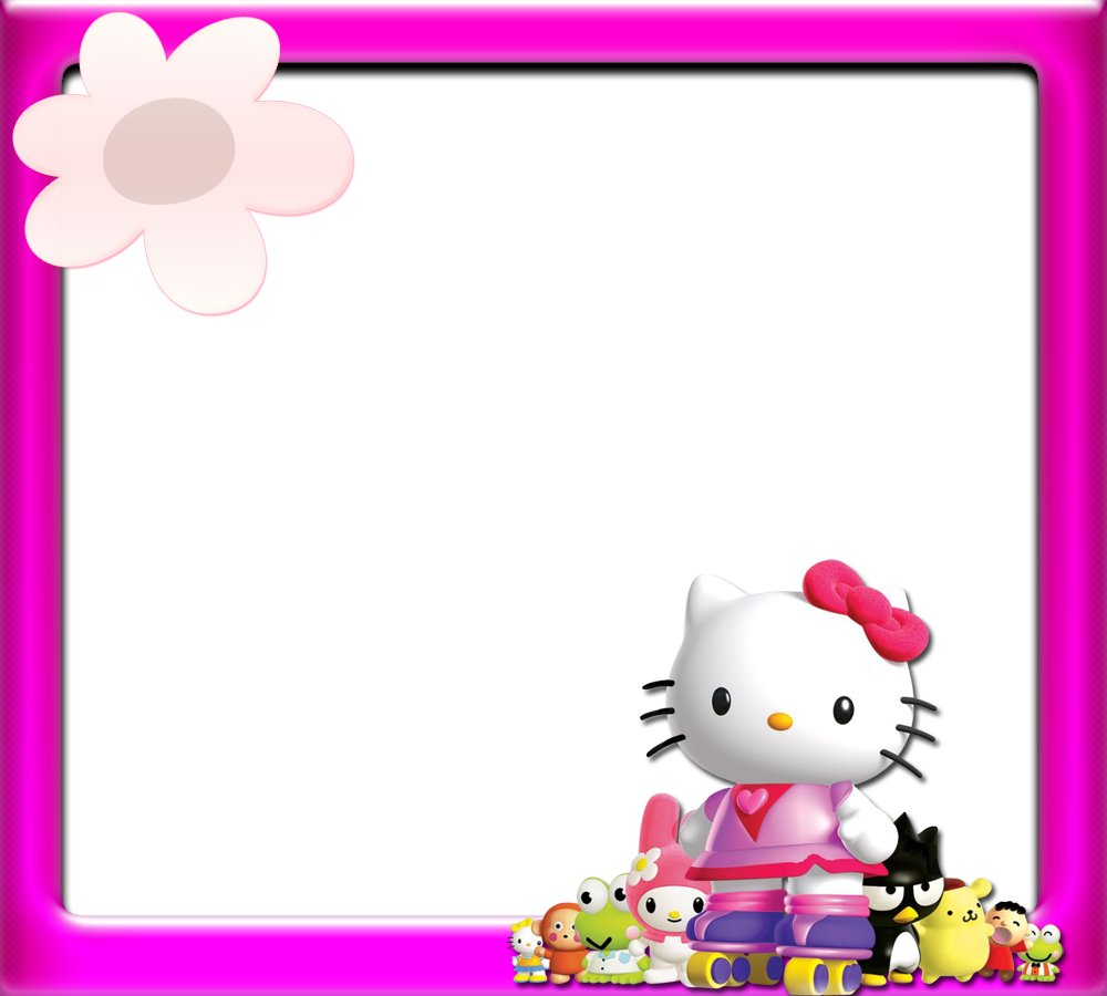 jpg black and white Kitty clipart border.  collection of hello.
