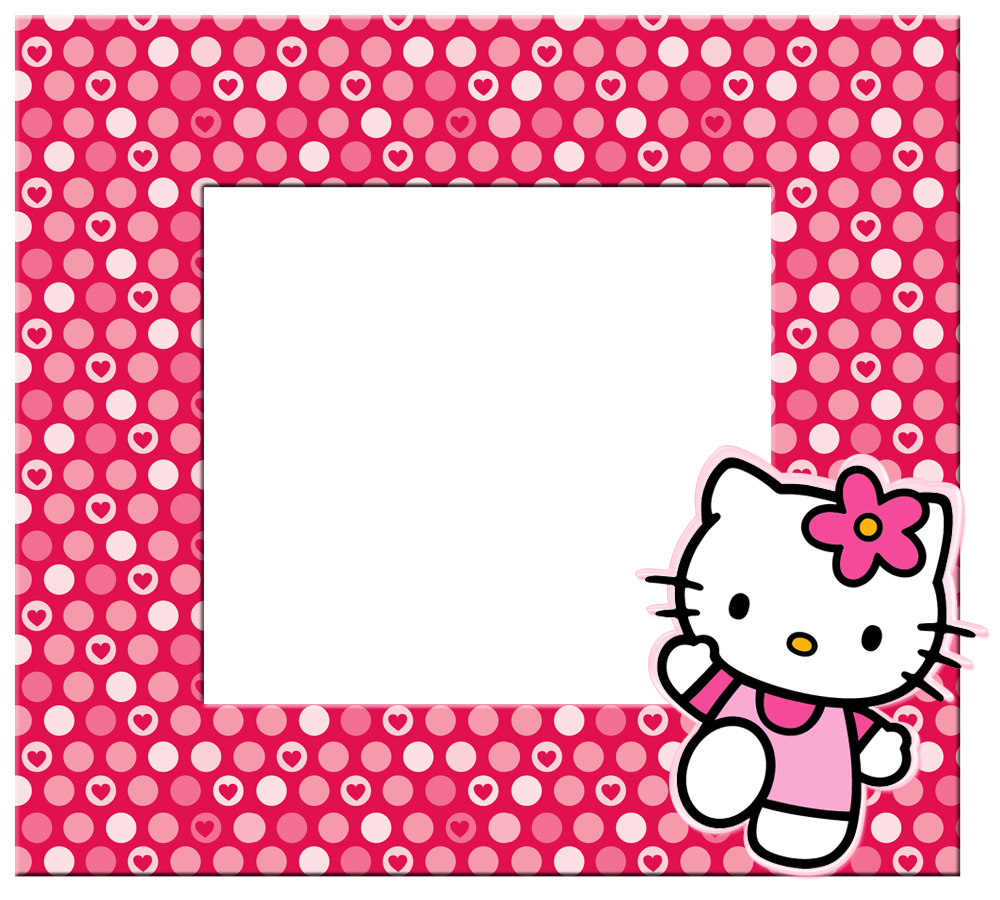 svg black and white Kitty clipart border. Hello borders images and.