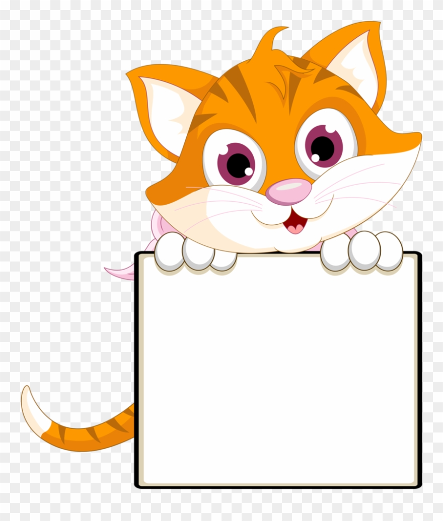 clip royalty free library Kitty clipart border. Cat clip art borders.