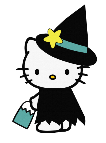 png free stock Hello halloween download meylah. Kitty clipart digital