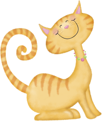 clip royalty free download Kitty clipart ginger cat. Here rock stone painting.