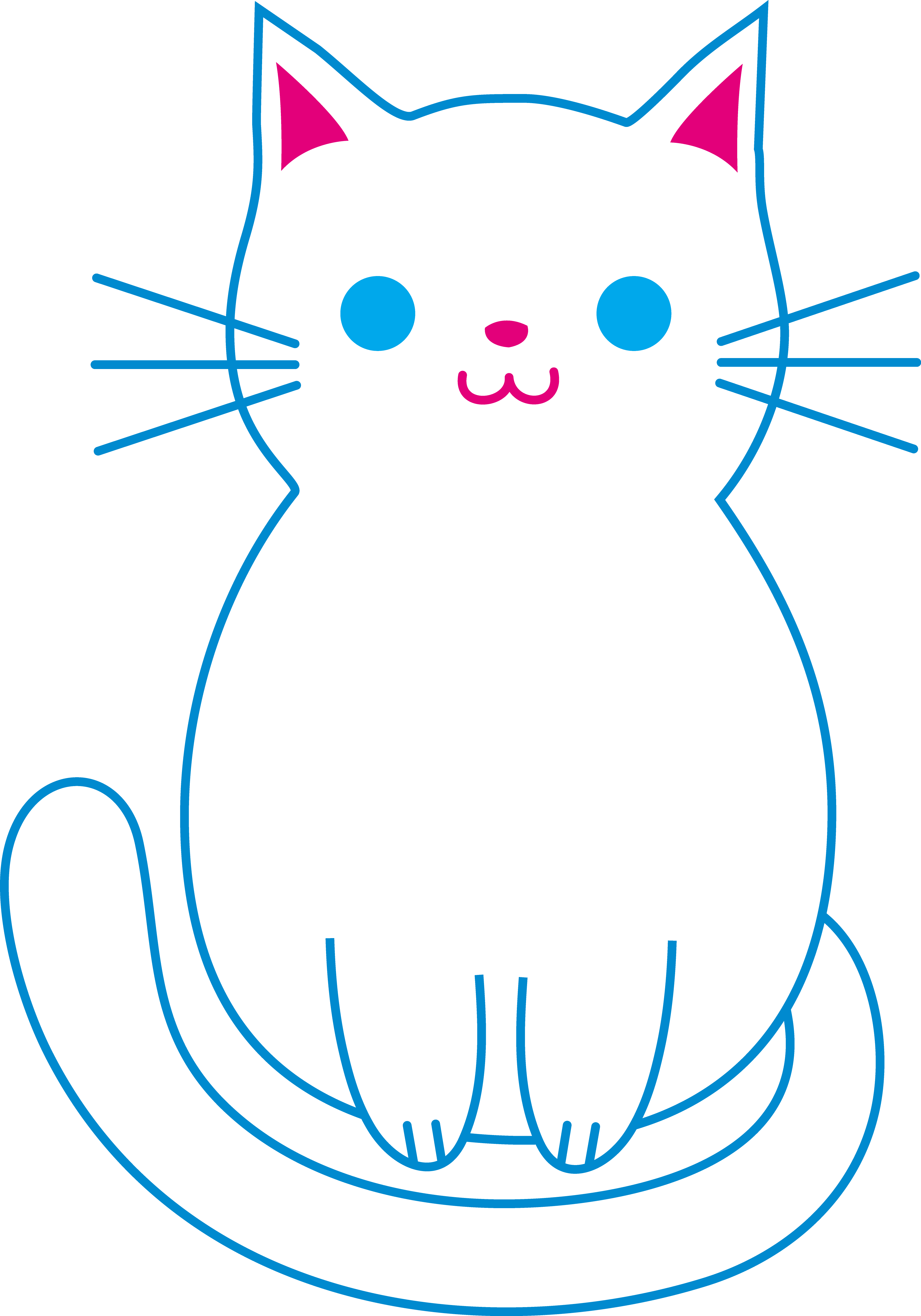 png library Kitty clipart kawaii. Cute white cat free.