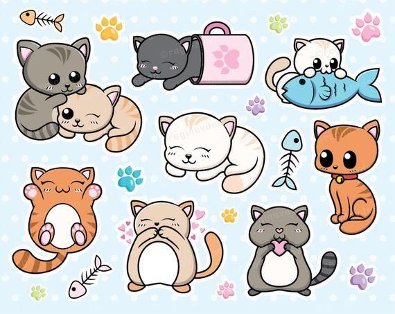 svg stock Cat kitten cats vector. Kitty clipart kawaii.