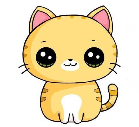 vector Kitty clipart kawaii. Drawing free download best.