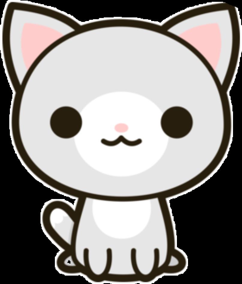 transparent stock Kitty clipart kawaii. Freetoedit sticker by wendypicsart.