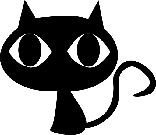clipart library Royalty free public domain. Black cat face clipart