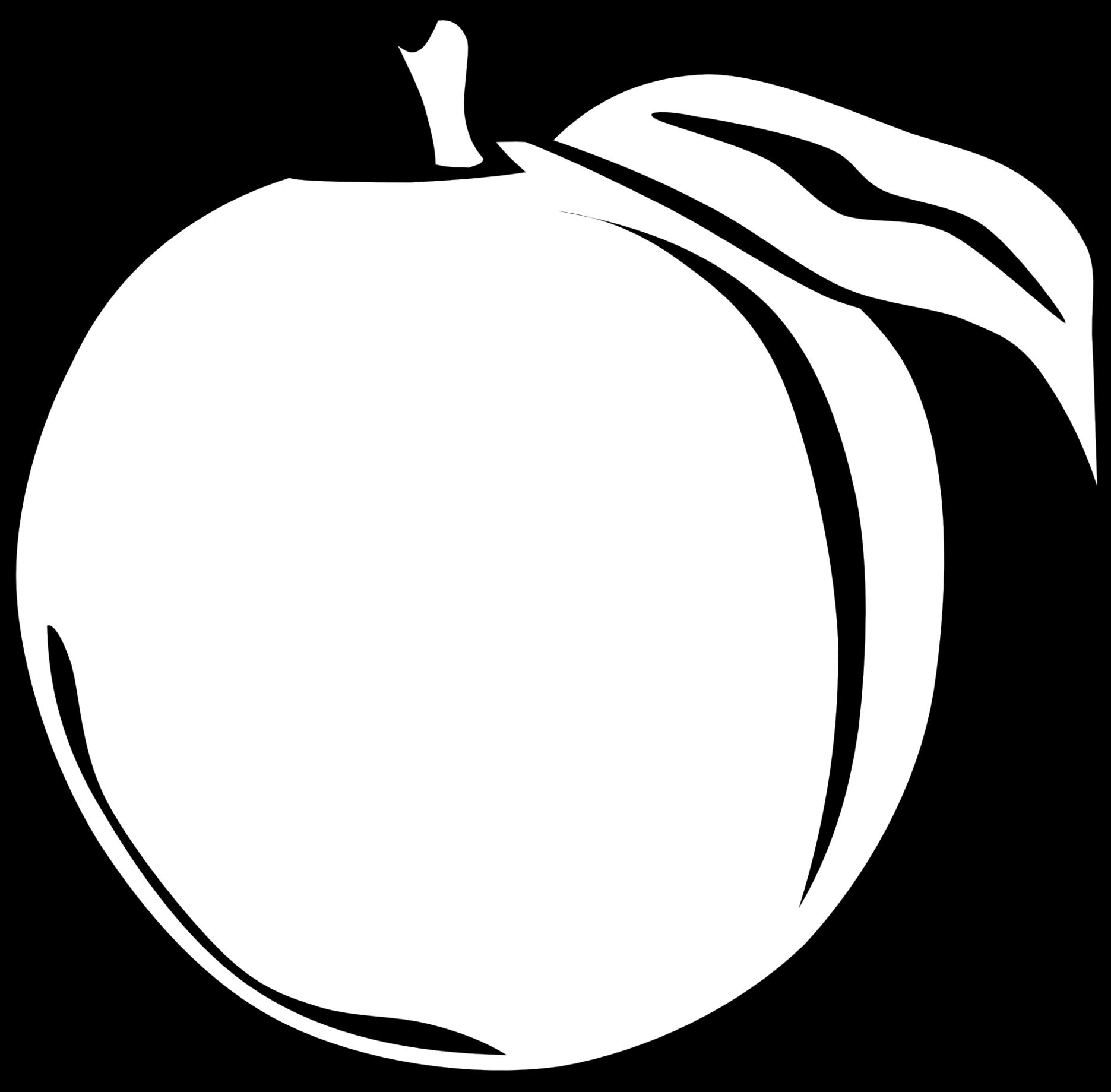 jpg freeuse stock Oranges clipart black and white. Apple fruit fruitsblack free