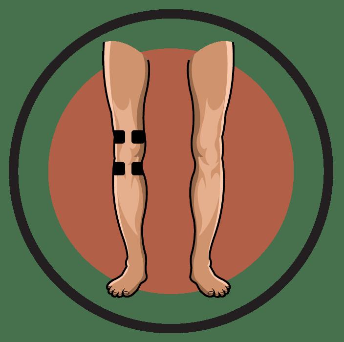 clipart transparent Knee pain clipart.  cool calves latest