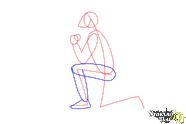 image freeuse download How to draw a. Kneeling drawing.