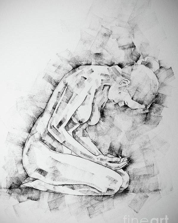 clip art free download Kneeling drawing. Sketchbook page pose poster.
