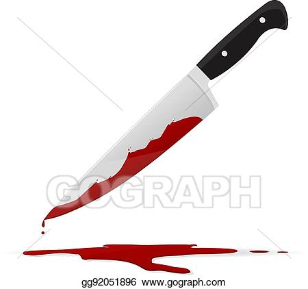 picture stock Bloody knife clipart. Vector illustration eps gg
