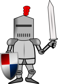 clip royalty free stock Knight clipart. In armor with shield.