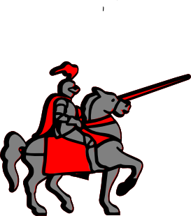 image royalty free Medieval cartoon knights art. Knight clipart horse animation.