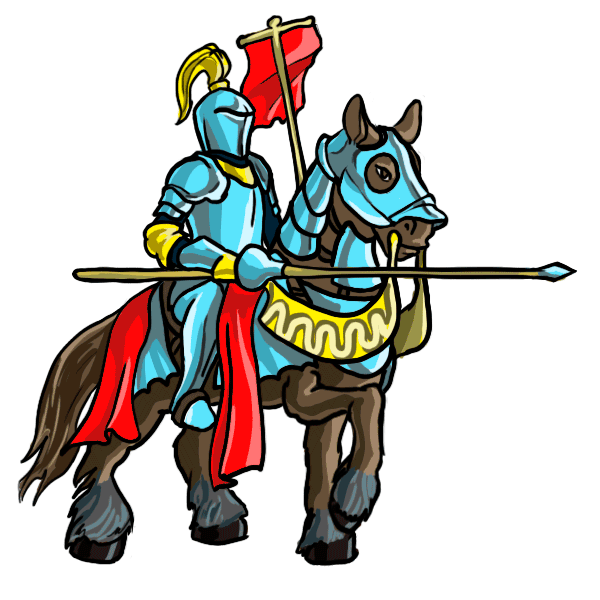 png black and white stock Medieval knight cartoon how. Knights clipart castle guard.