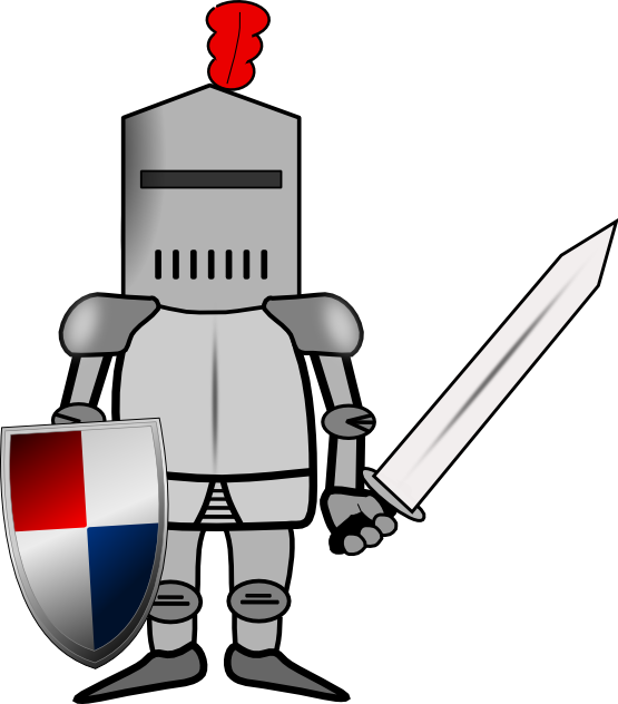 svg stock The top best blogs. Knight in shining armor clipart
