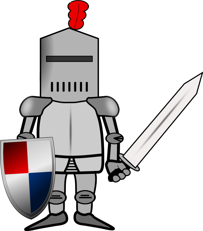 clip art transparent library Knight in shining armor clipart. Ritter medium image png