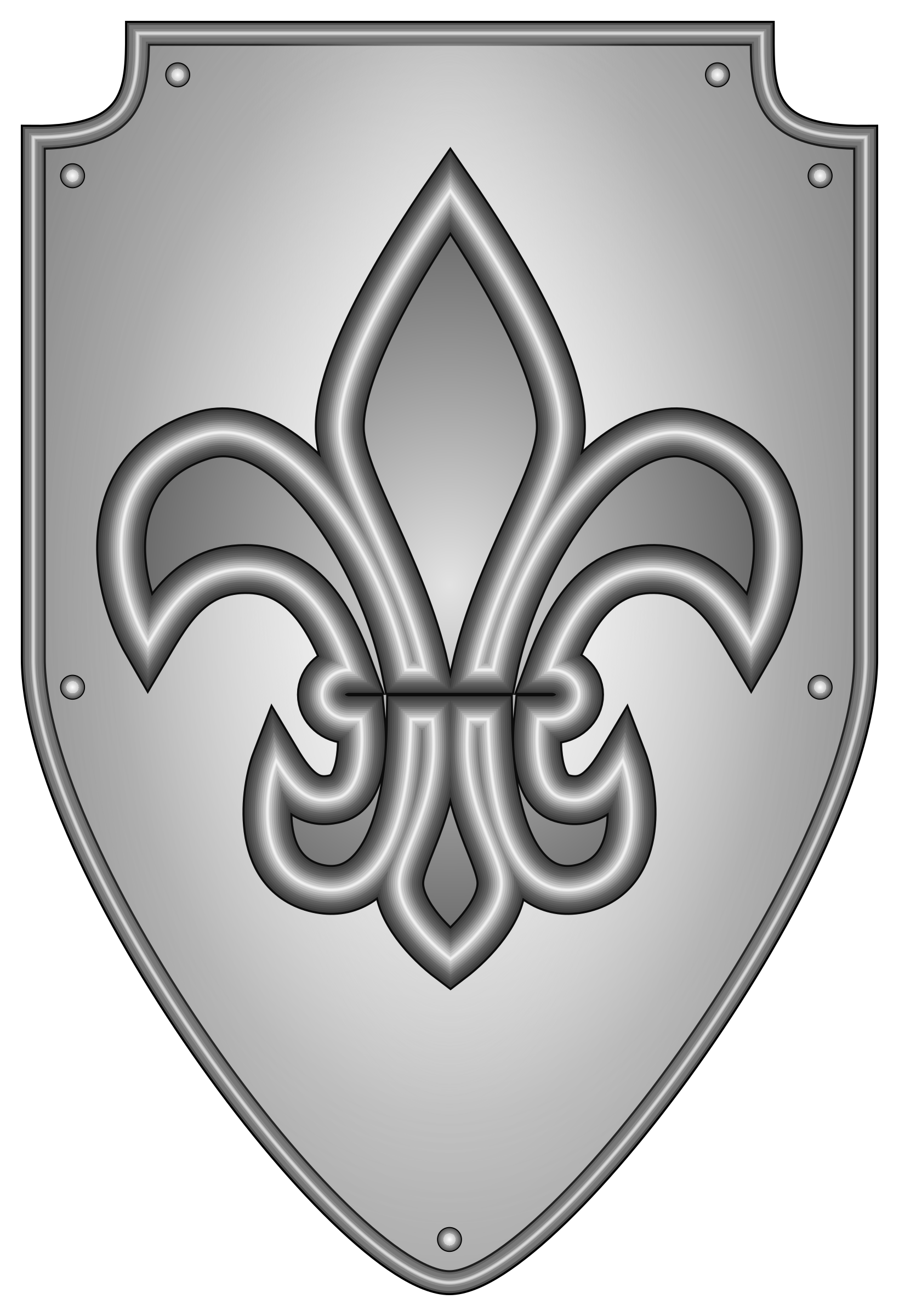 vector free Clipart shield big image. Vector crest knight