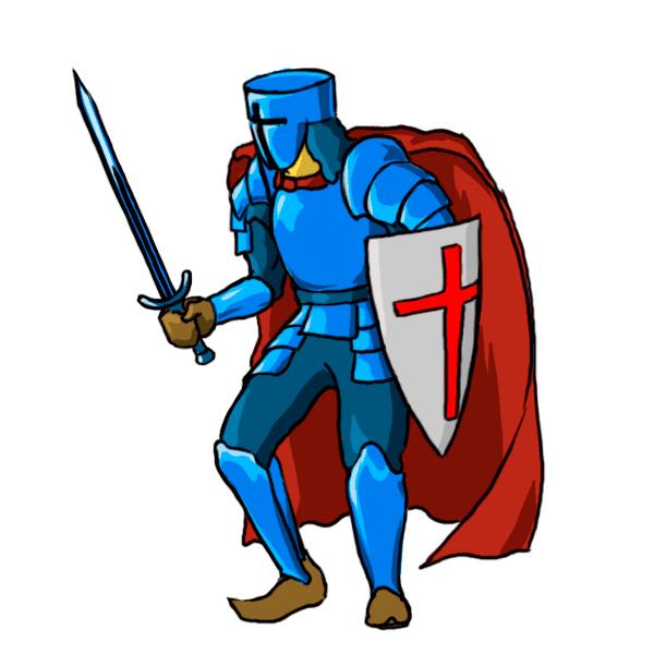 graphic royalty free Knight cartoon drawing at. Knights clipart.