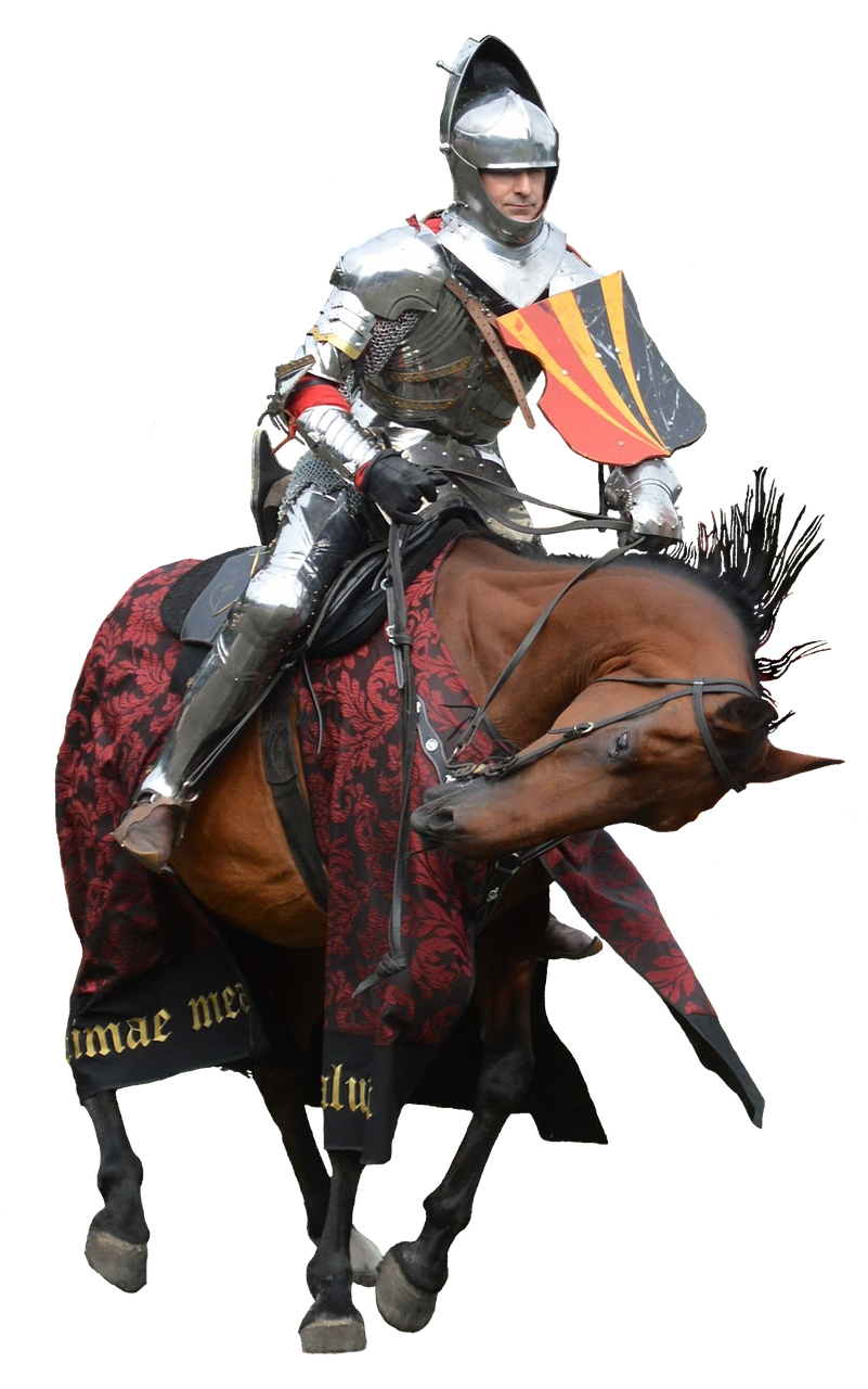 jpg free library Castle horse knight armor. Knights clipart charger.