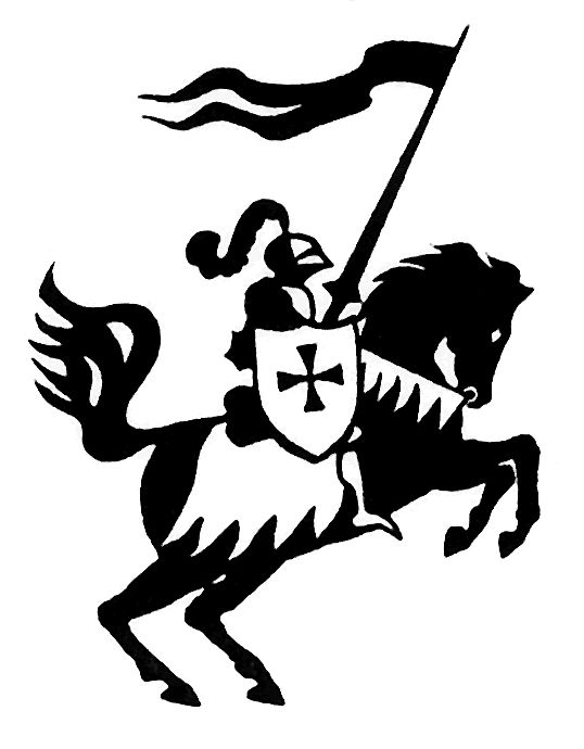 banner freeuse library Pin by nancy torres. Knights clipart charger.