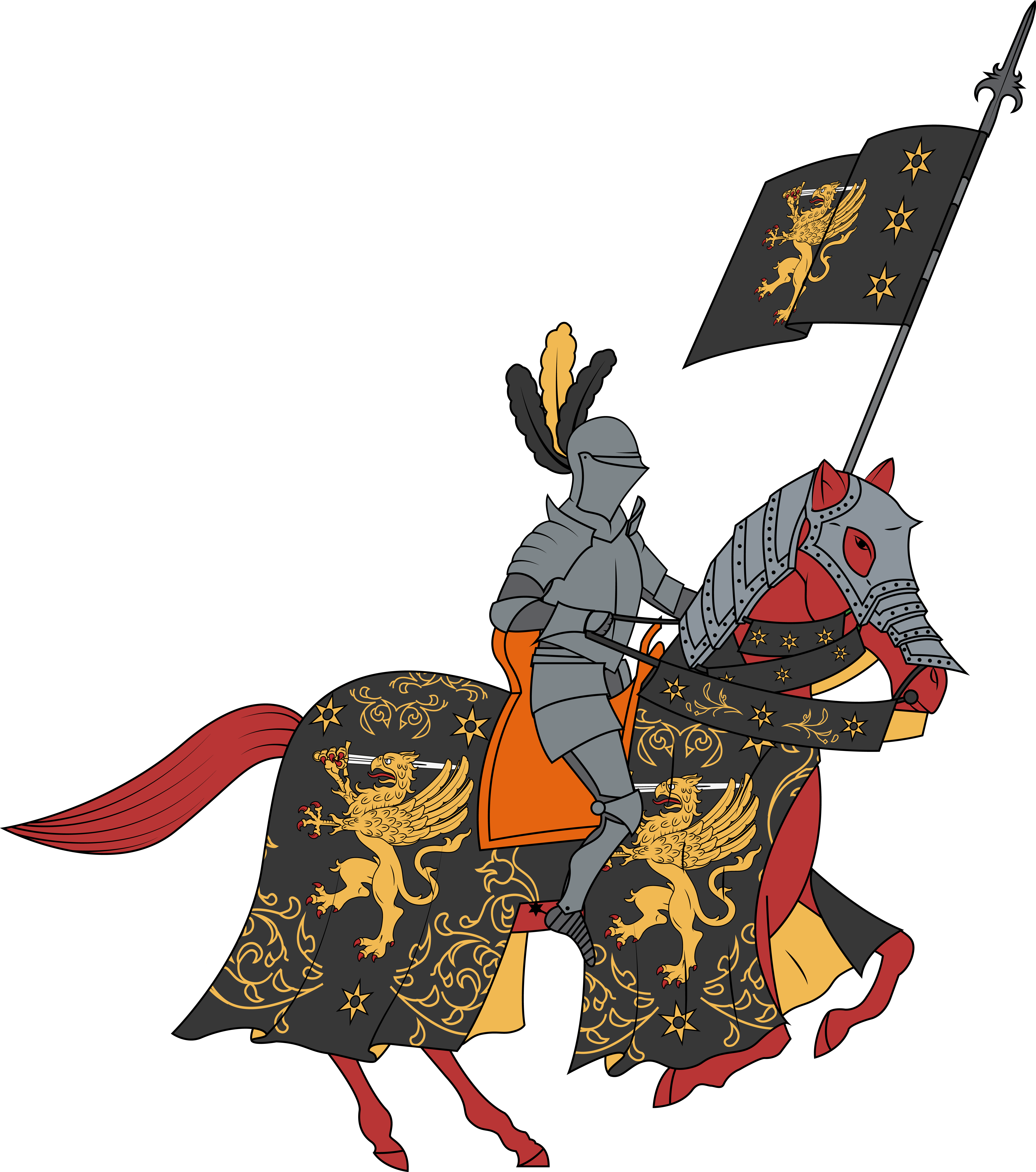 png transparent download Knights clipart charger. Transparent free .