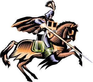 png royalty free Knights clipart charger. A knight riding charging.