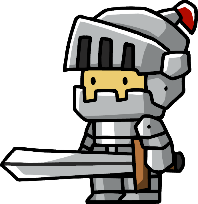 image royalty free download Knights clipart lancer. Knight scribblenauts wiki fandom.