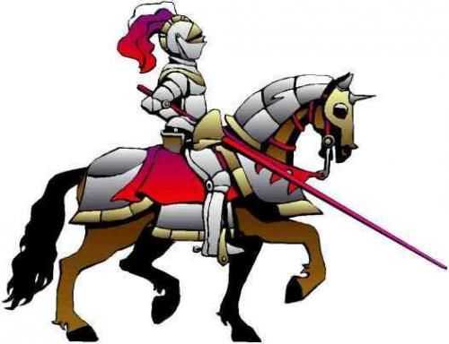 vector royalty free library Cartoon ages knights . Medieval knight clipart