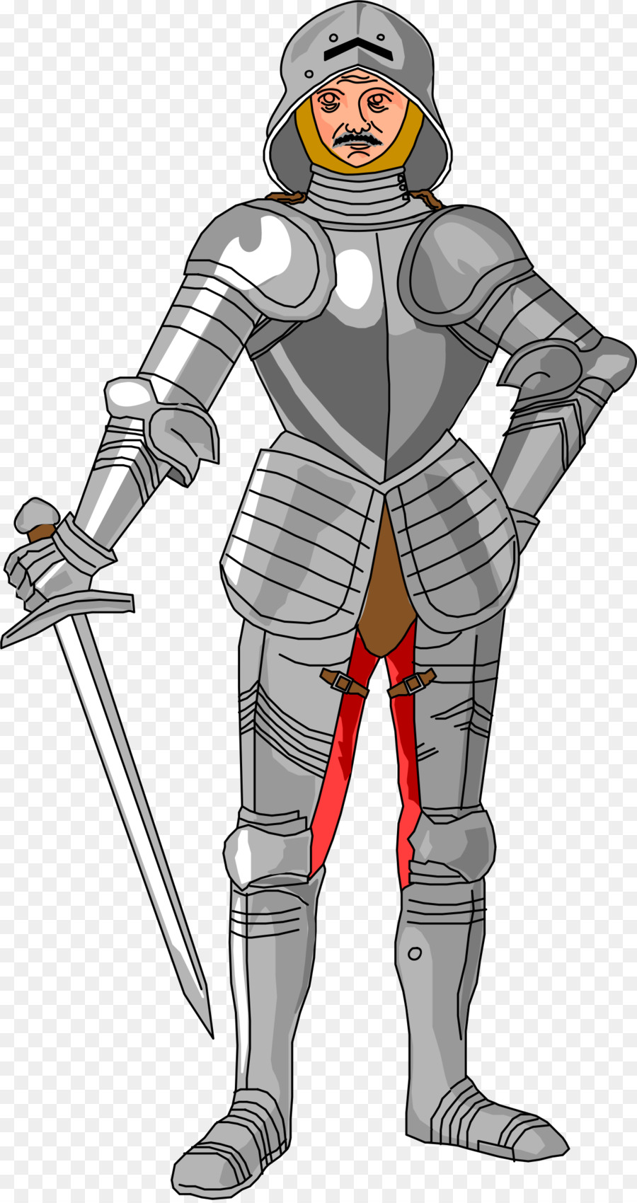 graphic freeuse download Medieval knight clipart. Superhero cartoon