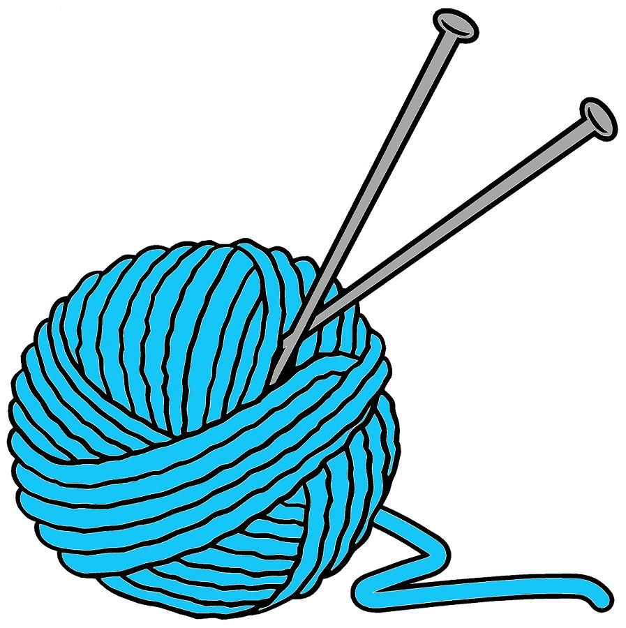 jpg library library Knitting clipart. Yarn craft knit patterns.