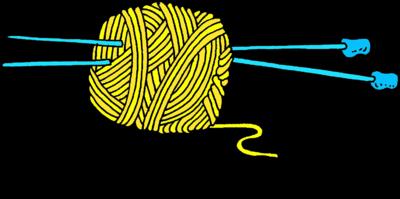 clip royalty free download Knitting clipart cartoon. Image yarn and needles.