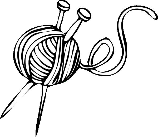 svg royalty free Yarn and Knitting Needles Clip Art