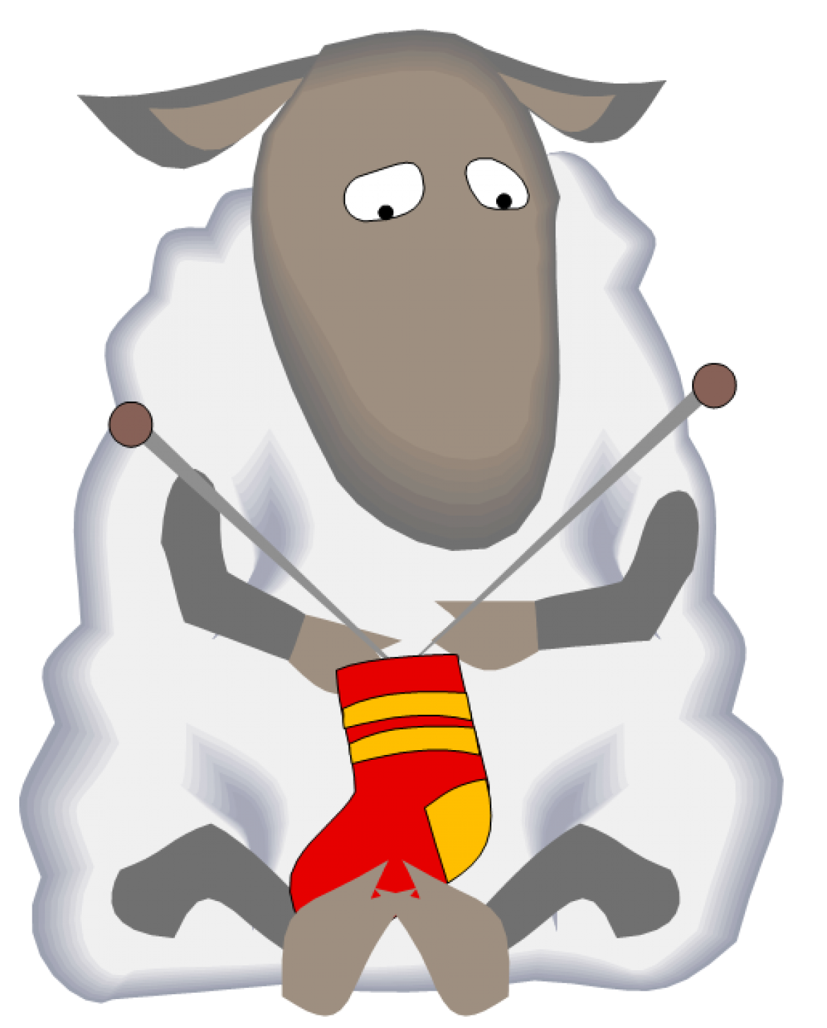 png free stock Knitting sheep clipart. Cropped flipped left to