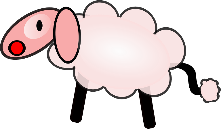 clip library library Images for drawing at. Knitting sheep clipart