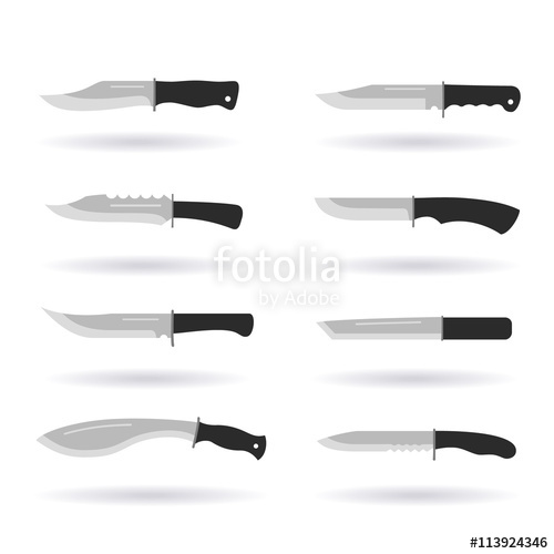 svg free Army collection flat icons. Knives vector military knife