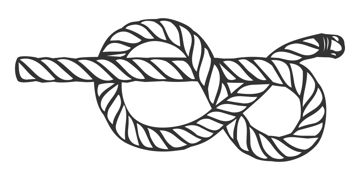 vector royalty free download Figure eight knot wikipedia. Drawing rope easy