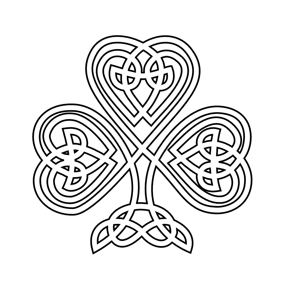 jpg royalty free Clip art black and. Celtic clipart line.