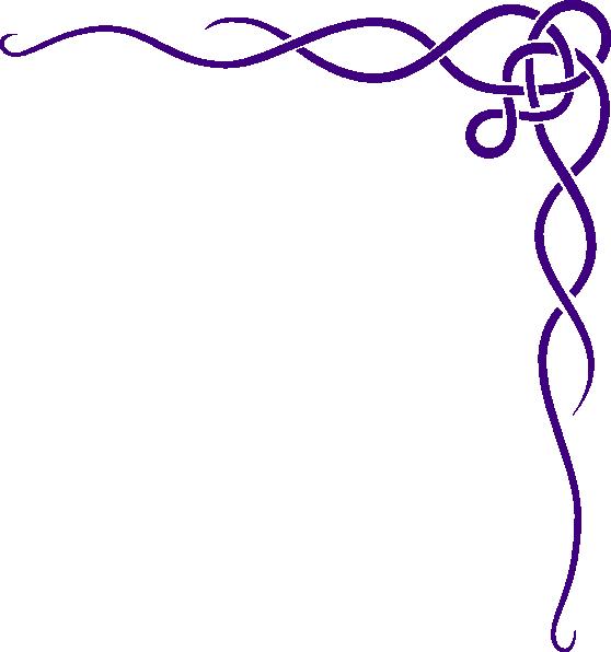 clip art black and white library Celtic knot purple clip. Irish border clipart