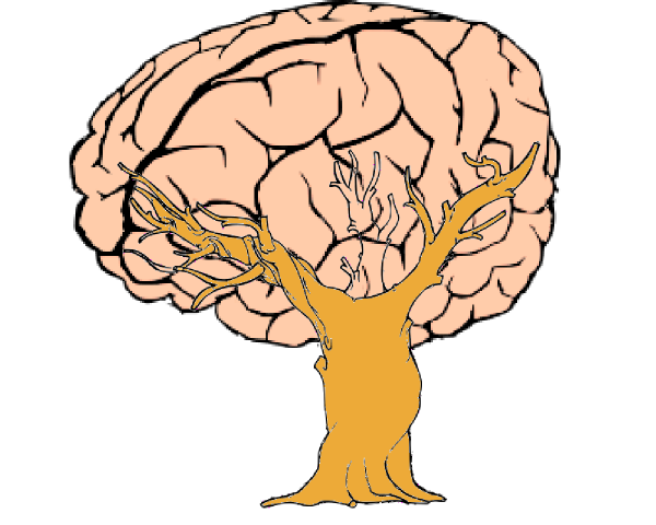 vector black and white Brain Tree Clip Art at Clker