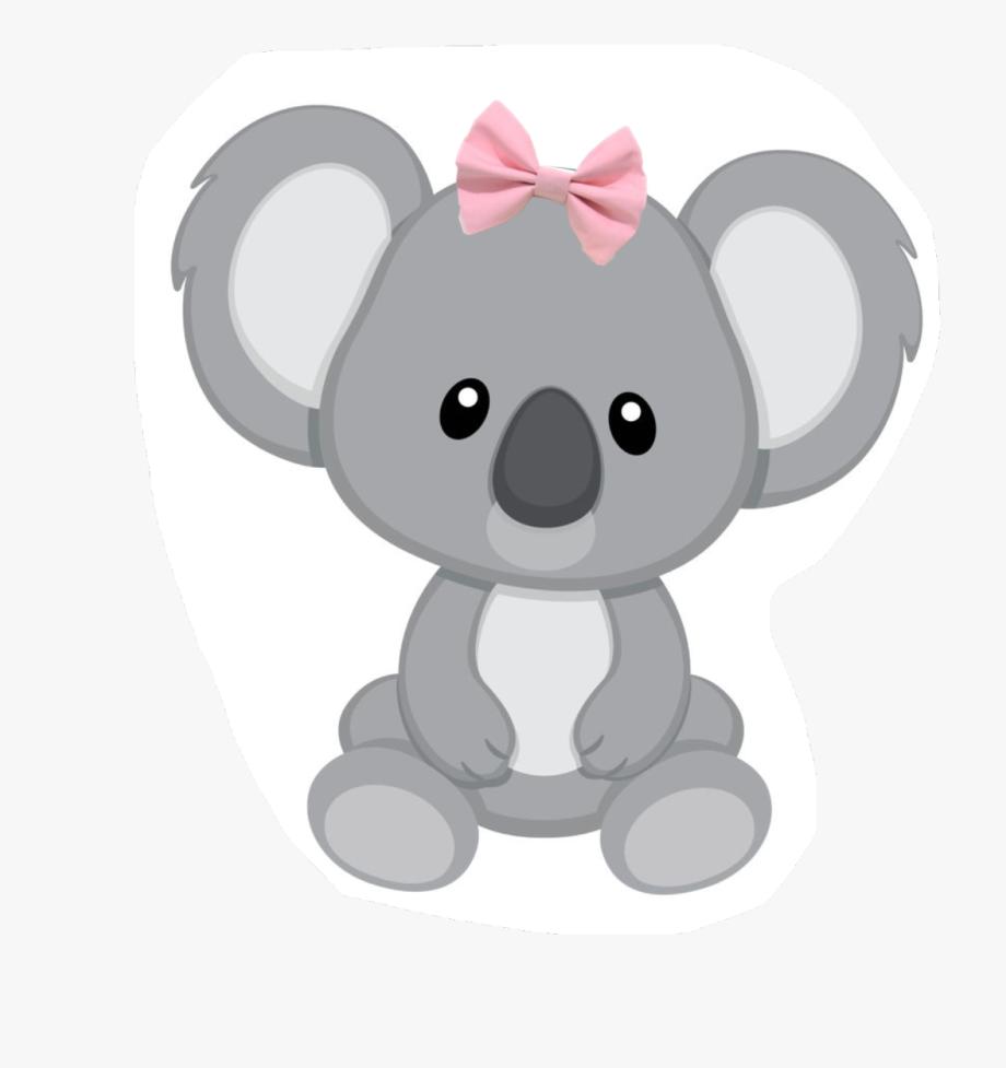 picture transparent stock Bow girl family . Koala bear clipart