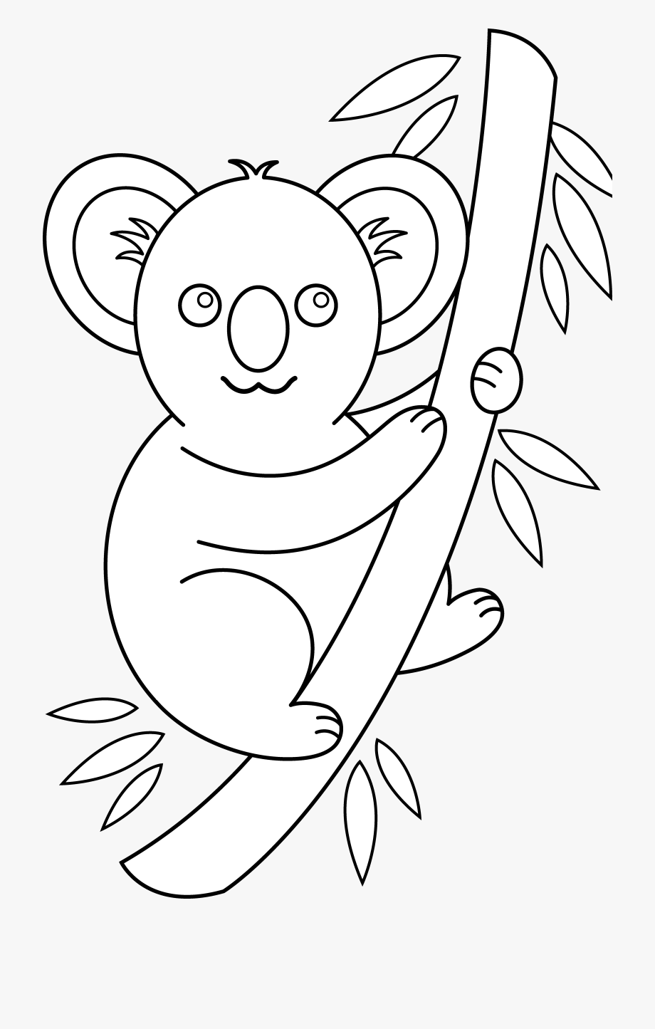 picture free Outline face cliparts . Koala bear clipart black and white