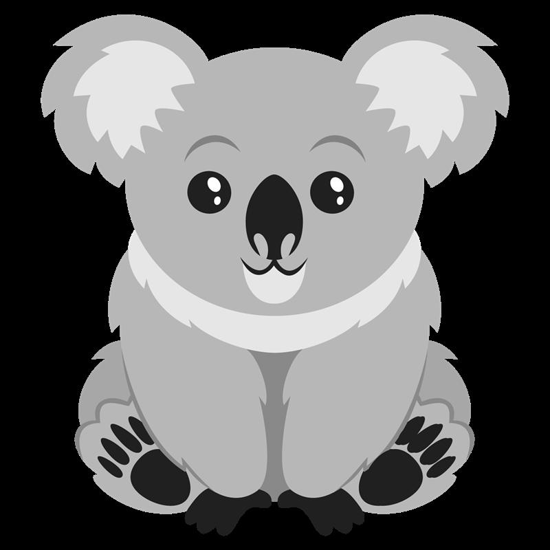 banner transparent stock Koala bear clipart black and white. Clipartblack com animal free