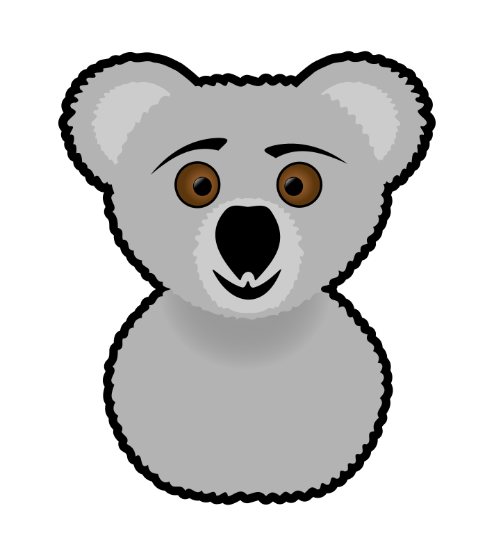 jpg royalty free download Panda free images clip. Koala bear clipart black and white