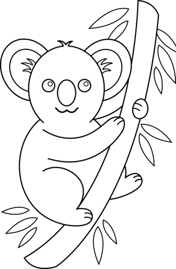 clip black and white download Koala bear clipart black and white.  collection of high