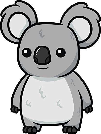 clip black and white Amazon com adorable wild. Clipart koala