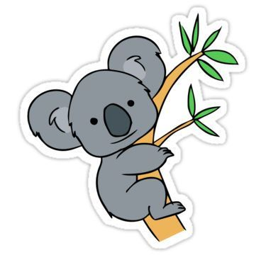clip art royalty free stock Cute sticker by kacy. Koala clipart.